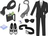 Men's Fashion Elements — Stock Photo