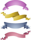 Ribbons in Different Colors and Designs — Stock Photo