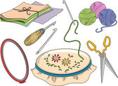 Materials Used in Rug Hooking — Stockfoto