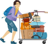 Student Moving into the Dormitory — Stock Photo