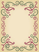 Ornamental Swirls Frame — Stockfoto