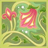 Floral Tile Design — Stock Photo