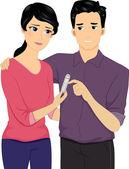 Teste de gravidez negativo — Foto Stock