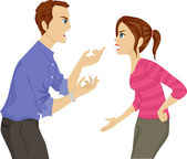Father and Daughter Argument — Foto de Stock