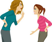 Mother and Daughter Arguing — Photo