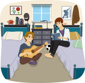 Male Roommates — Stock Photo