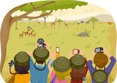Teens on a Safari Tour — Stock Photo