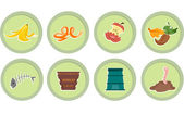 Composting Stickers — Stock Photo