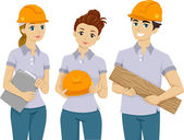 Teenage Volunteer Workers — Stock Photo