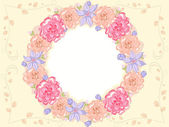 Shabby Chic Floral Frame — Stock Photo
