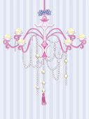 Shabby Chic Chandelier — Stock Photo