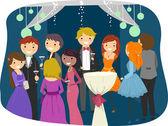 Teens Dressed Sharply for Prom Night — Stock Photo