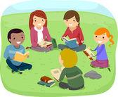 Teenagers Reading Books — Stock Photo