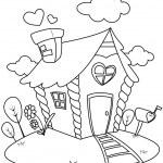 Line Art Small House — Stock Photo #7599933