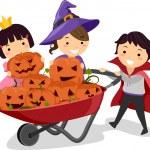 Pumpkin Kids — Stock Photo #7734130