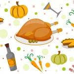 Thanksgiving Seamless Background — Stock Photo #7892540