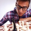 King surrounded by pawns — Foto de Stock