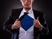 Cropped view of super business man — Stock Photo