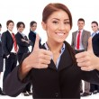 Royalty-Free Stock Photo: Woman leader is very happy about the results
