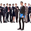 Man welcoming you to his business team  — Foto Stock