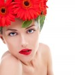 Young woman wearing a wreath — Stock Photo #12747090