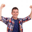 Young man cheering — Stock Photo #13212373