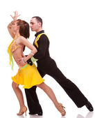 Couple during a salsa dance — Stock Photo