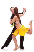 Nice salsa dancing couple — Stock Photo