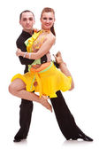 Beautiful salsa dance couple posing — Stock Photo