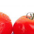 Two red fresh tomatoes — Stock Photo