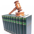 Judges gavel on law books — Stock Photo
