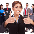 All good with my business team! - Stock Photo