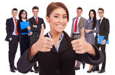 All good with my business team! — Stock Photo