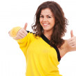 Dancer showing both thumbs up — Stock Photo #14038042