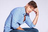 Serious fashion male model — Stock Photo
