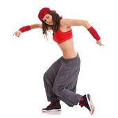 Kadın dansçı gerçekleştirme — Stok fotoğraf