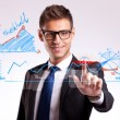 Business man making a good choice - Stockfoto