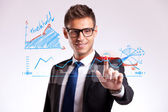 Business man making a good choice — Stockfoto