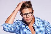Genç casual fashion adam — Stok fotoğraf