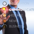 Info, communication, message, news, business — Stock Photo