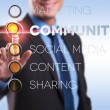 Marketing, community, social media, content, sharing — Stock Photo