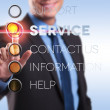 Support, service, contact, information, help — Stock Photo