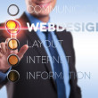 Web design, internet, layout, information — Stock Photo