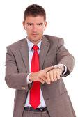 Impatient business man — Stock Photo