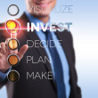 Visualize, invest, decide, plan, make — Stock Photo