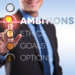 Rules, ambition, ethics, goals, options - Stock Photo