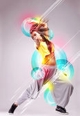 Passionate young woman dancer — Stock Photo