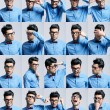 Portraits with different expressions of a young man — Stock Photo