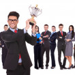 Winning business team — Stock Photo