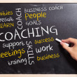 Business man writing the coaching  concepts - Stockfoto